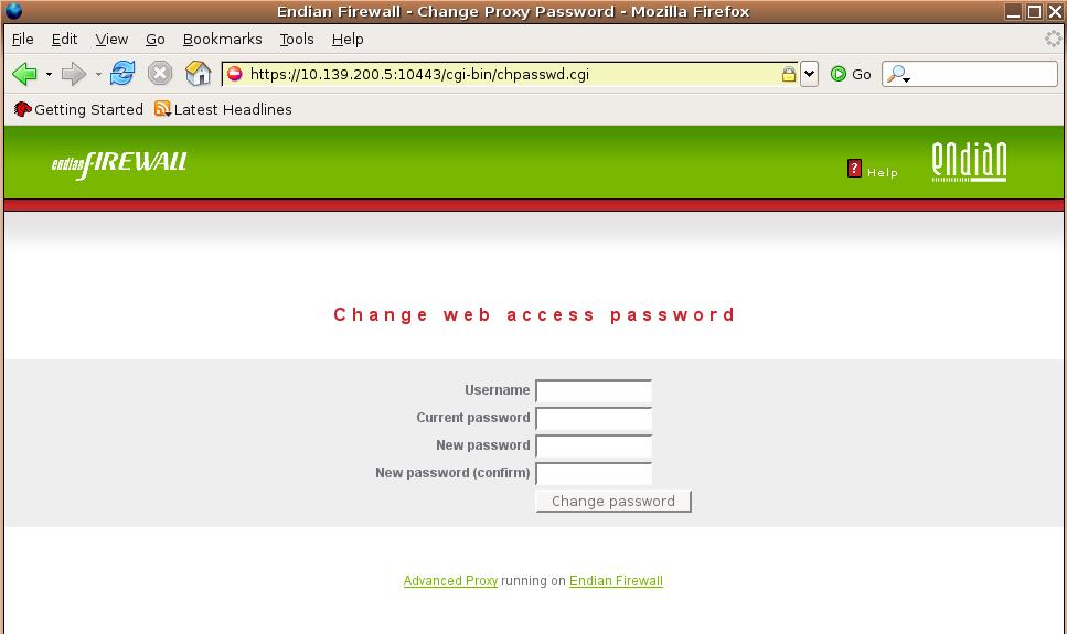 e fw server  error