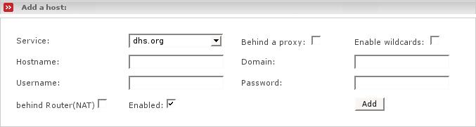 Dynamic DNS Administrative Web Page